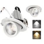 Оригинал 5W 12W Dimmable LED COB Потолочный светильник Лампа Регулируемый прожектор