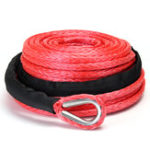 """Оригинал 3/8 """" 100FT 15000lbs Синтетическая кабельная линия восстановления лебедки Веревка Внедорожник Внедорожник OffRoad"""