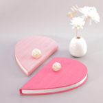 Оригинал Heart-shaped Book Light Colorful Night Light USB Rechargeable 2000mAh Folding Book Lamp Art Decorative Lights