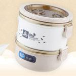 Оригинал QICARОбедКоробкаТермоконтейнеризнержавеющей стали для хранения пищевых продуктов Герметичный Экологичный Bento Коробка
