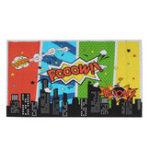 Оригинал 5x7FT 9x6FT Винил Супергерой Мультфильм Городской Бум Pooow Фотография Фон Фон Студия Опора