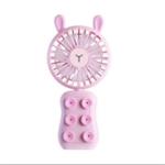 Оригинал Well Star WT-9101 Маленький медведь / Кролик Мини USB-вентилятор для телефона с Colorful световым режимом Шесть силиконовых присосок Портативный неболь