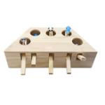 Оригинал Игрушка для кошек Машина для хомяков Забавная игрушка для кошек Твердая древесина Товары для животных Whac-A-Mole