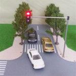 Оригинал HO OO Шкала Модель светофора Архитектура поезда Пересечение Прогулка Улица Сигналы блока