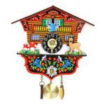 Оригинал KB-002ДеревяннаякукушкаЧасы3DКачели Часы Мультипликационная стена Часы Bird Time Bell Alarm Alarm Watch