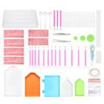 Оригинал 215Pcs 5D Алмазная картина Набор Набор DIY Алмазные аксессуары для вышивания Ручка Set