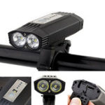 Оригинал XANES®DL231200LMВелосипедныйфонарь4000 мАч USB аккумуляторная Водонепроницаемы Велосипедный передний фонарь 3 режима Ночная сигна