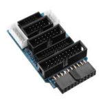 Оригинал 10 шт. Многофункциональный Переключатель Доска Поддержка Адаптера J-LINK V8 V9 ULINK 2 ST-LINK Эмулятор STM32