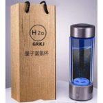 Оригинал 450 мл Портативный H Rich Water Maker Ионизатор Генератор Чашки Воды Бутылка USB Фильтр
