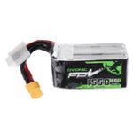 Оригинал Ovonic 14.8V 1550mAh 80C 4S Lipo Батарея XT60 Разъем для FPV Racing Дрон