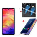 Оригинал Bakeey™FlipProtectiveЧехол+ Защитная пленка от взрыва + 2 шт. Телефон Объектив Пленка для Xiaomi Redmi Note 7 / Note 7 Pro