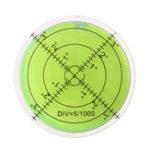 Оригинал 3шт 60мм Большой Дух Уровень Пузырька Уровень Марка Поверхности Круговой Измерение Глаза Быка