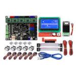 Оригинал MKS GEN L Материнская плата + Mini MOS Модуль + ЖК-дисплей 12864 + Предел 6шт Swich + 5шт A4988 Драйвер Набор 3D-принтер Запчасти