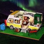 Оригинал IIE CREATE DIY Кукла Дом K-037 Отдыха и досуга для отдыха с музыкальным движением
