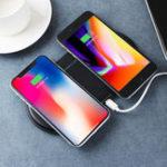Оригинал Ци беспроводное зарядное устройство быстрой зарядки двойной зарядки Pad телефон держатель для iPhone Samsung Huawei Xiaomi