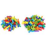 Оригинал Пластиковые многоцветные 72 / 102шт Трубка строительные блоки игрушки детские блоки игрушки