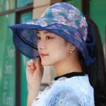 Оригинал Женская складная двухсторонняя одежда Summer Sun Пустой топ Шапка