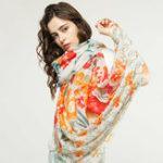 Оригинал Солнцезащитный крем Ethnic Винтаж Vogue Polyester Soft Шарф-шаль