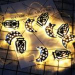 Оригинал 1.65M Батарея Управляемый Ид Рамадан Луна LED String Light Ислам Крытый Партия Дома отдыха Декор
