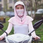 Оригинал Женский солнцезащитный крем шарф Ice Silk Шапка