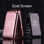 Оригинал GZONE Z8 2,8 дюйма 3200 мАч Dual Дисплей Большая кнопка факела Dual Sim Двойной резервный флип Функция телефона