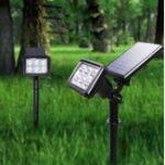 Оригинал Солнечная энергия Белый / Теплый белый / Colorful Точечный светильник на стену Сад На открытом воздухе Двор Пейзаж Лампа