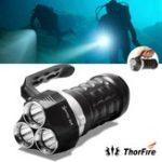 Оригинал Thorfire Scuba Diving Фонарик 2000 Люмен IPX8 Водонепроницаемы Подводный 230-футовый USB Аккумуляторный фонарик
