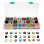 Оригинал 720шт стеклянные бусины много жемчужные круглые свободные кристалл 8 мм спрей окрашены DIY