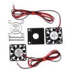Оригинал 4010 12 В 2500 ± 10% Скорость Вентилятор Охлаждения Теплоотвод Радиатор Набор Для 3D-Принтер Частей