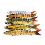 Оригинал ZANLURE Preasle 1Pcs 13.28cm Рыбалка Bait Рыбалка Пластиковая приманка с жесткой приманкой для снастей Жесткая гибкая искусственная мультисочлененная п