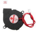 Оригинал 3шт 24В 0.15А 5015 Втулка подшипника Бесколлекторный Турбо Вентилятор охлаждения с 2-контактным XH2.54 Провод для 3D-принтер