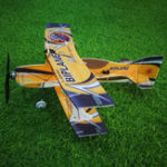 Оригинал Мини-биплан Hornet 400мм Размах крыльев 3D Самолет с неподвижным крылом Самолет Epp D Board Indoor На открытом воздухе F3P KIT
