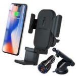 Оригинал Bakeey 3 In 1 Авто Держатель 10W Qi Беспроводное зарядное устройство для Iphone 8 X XS Быстрое беспроводное зарядное устройство для Apple Watch для Samsung Air Xiaomi