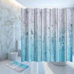 Оригинал Деревянная панель для душа 12 Крюк Ванная комната Водонепроницаемы Ткань Ванная комната