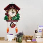Оригинал Wall Clock Cuckoo Clock Living Room Bird Alarm Toys Modern Brief Children Decorations Home Day Time Alarm