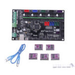 Оригинал Материнская плата 3D-принтера MKS-GEN V1.4 + 5Pcs DRV8825 Драйвер для 3D-принтера Совместим с Mega 2560 R3 / RepRap Ramps1.4