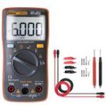 Оригинал ANENGAN8002OrangeDigitalTrueRMS 6000 Считает Мультиметр AC / DC Ток Напряжение Частота Сопротивление Температура Тестер ℃ / ℉ + Набор измерительных пров