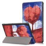 Оригинал Tri-Fold Печатный планшет Чехол Чехол для планшета Lenovo Tab E 10 – Love Tree