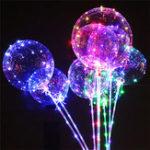 Оригинал 20-дюймовый DIY светящийся прозрачный волна мяч день рождения Свадебное украшения светодиодный фонарь Воздушный шар вибрирующая игрушка