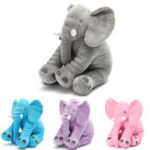 """Оригинал 15.7 """"чучело Soft подушка ребенок спит Soft подушка слон плюшевые милые игрушки для малышей младенцев подарок детям"""