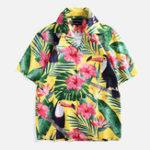 Оригинал Рубашкискороткимрукавомсцветочным принтом для мужчин
