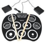 Оригинал Портативная электронная Roll Up Drum Set Набор 9 Силиконовый коврик для начинающих