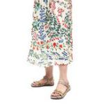 Оригинал ЖенскаяплоскаякожаСандалииЛетняяпряжка на низком каблуке ручной работы На открытом воздухе Легкий вес Пляжный Сандалии