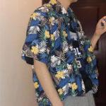 Оригинал Mens Summer Hawaiian Holiday Пляжный Печать рубашки