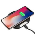 Оригинал Ультратонкое 10W беспроводное зарядное устройство Qi Быстрая зарядка Держатель телефона для устройств с поддержкой Qi Samsung Galaxy S10 Plus iPhone XS Мак