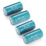 Оригинал 8 ШТ. MECO 3.7 В 1200 мАч Reachargeable CR123A / 16340 Литий-Ионный Батарея
