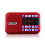 Оригинал Мини Портативный Карманный Радио Динамик LCD Цифровой FM USB TF Карта Музыкальный Плеер MP3