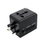 Оригинал YICHEN TR-148 Worldwide Универсальный многофункциональный преобразователь Power Plug Конвертер Dual USB Travel Conversion Plug Стандарт ЕС США ВЕЛИКОБРИТАНИЯ AU Plug Пор