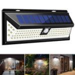 Оригинал 1200LM 120 LED 3 режима Солнечная Мощность PIR Motion Датчик Настенный светильник На открытом воздухе Водонепроницаемы IP65
