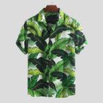 Оригинал Mens Summer Hawaiian Holiday Цветочные Печатные Модные Рубашки